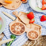 Tractor Bamboo Plate