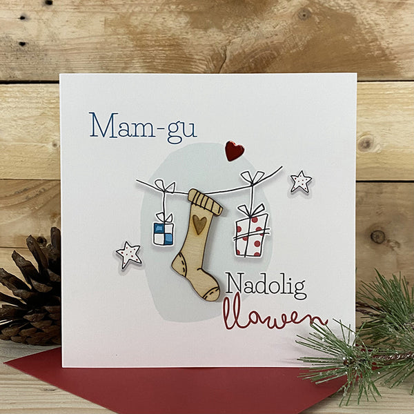 Mam-gu Nadolig Llawen - Merry Christmas Grandmother