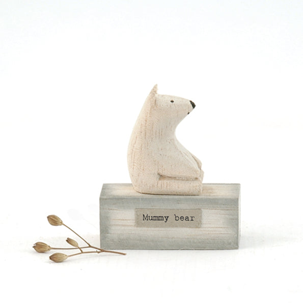 Mummy Bear Wooden Scene