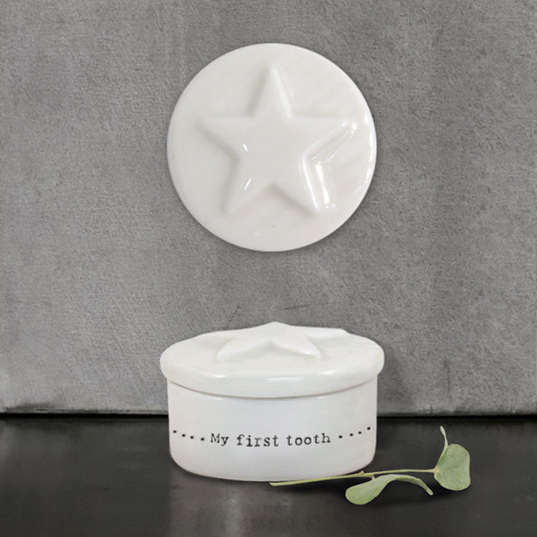 Porcelain Star Tooth Box
