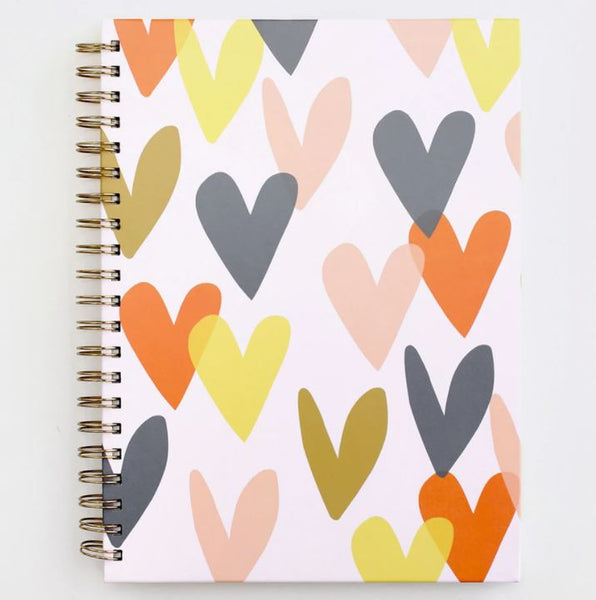 Hearts A4 Spiral Notebook