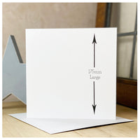 Personalised Wooden Moustache Card