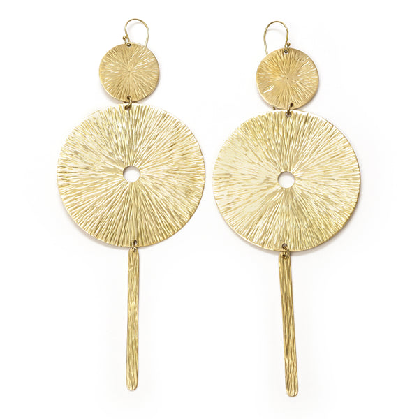 Franka Brass Earrings
