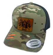BMD Leather Multicam Trucker