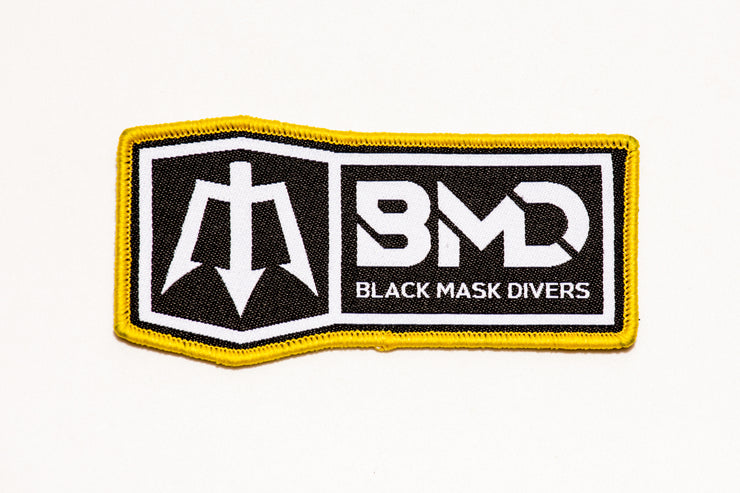 Black Mask Divers velcro Operator Patch. Public Safety Rescue and Recovery Divers scuba apparel and gear.