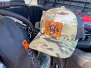 BMD Multicam Leather Patch Trucker Hat