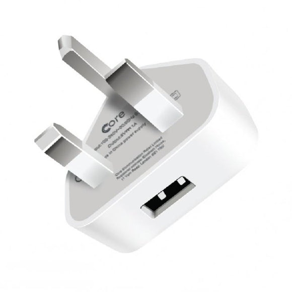 Cians Tech World | 1 AMP Single USB Mains Charger