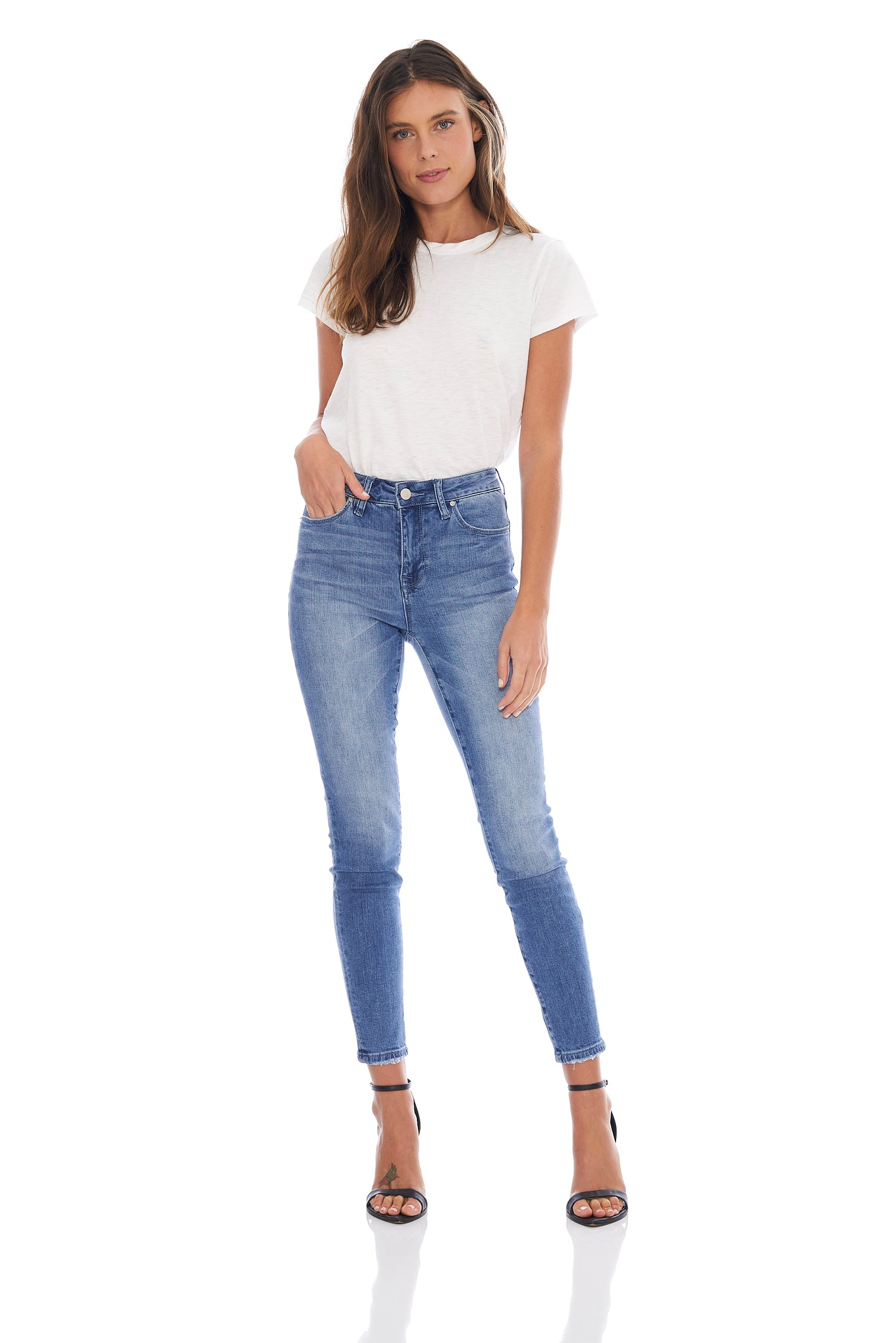 MADE IN BLUE MIA HIGH RISE SKINNY - LIGHT WASH