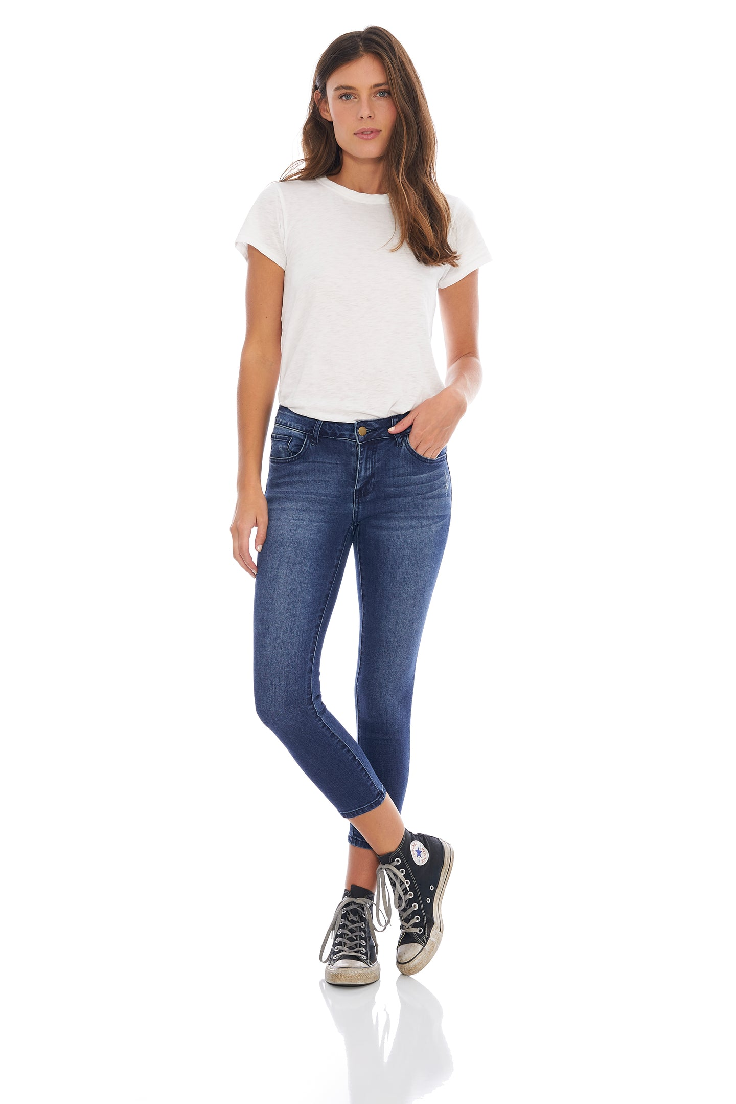 MADE IN BLUE AUDREY CROP SUPER SOFT SKINNY