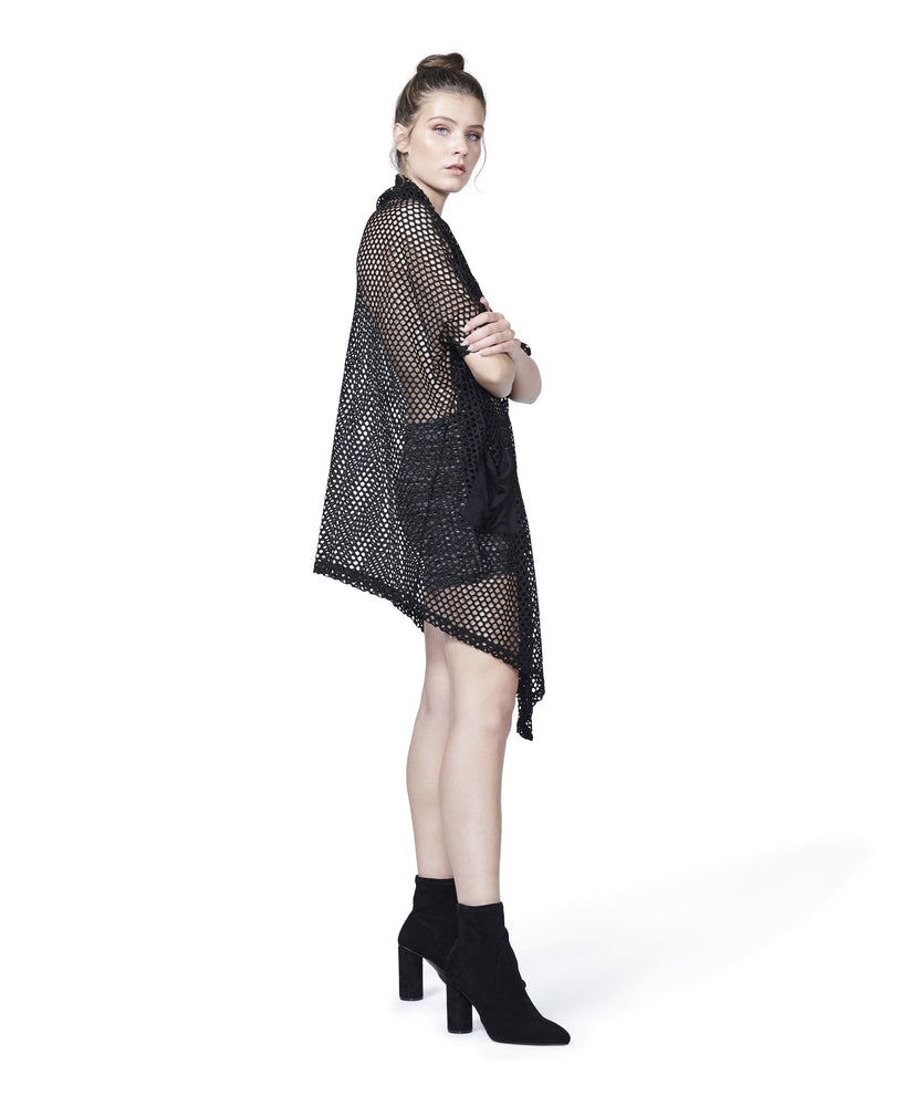 Mesh Cardi | Cover Up black