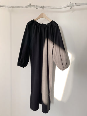 Kimono Blouse Dress with Belt black