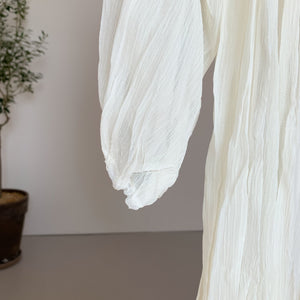 Sheer Peasant Dress white