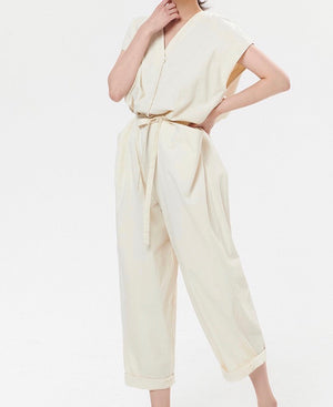 Cargo Romper Suit with Belt
