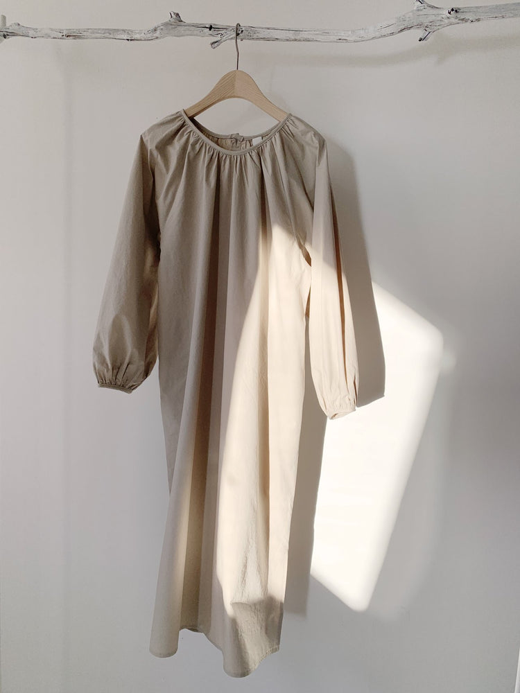 Kimono Blouse Dress with Belt beige