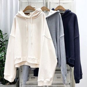 Hoodie Sweatshirt ivory, light grey, navy