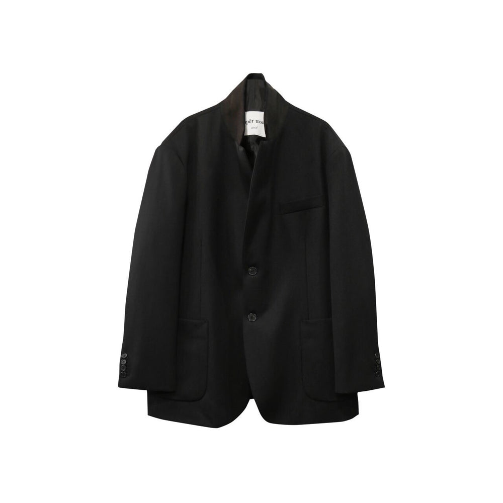 Button Tailored Tuxedo Blazer