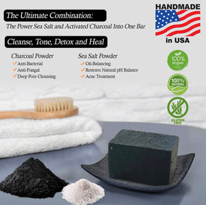 HB Black Charcoal Soap Sponge - Havanah's Bliss