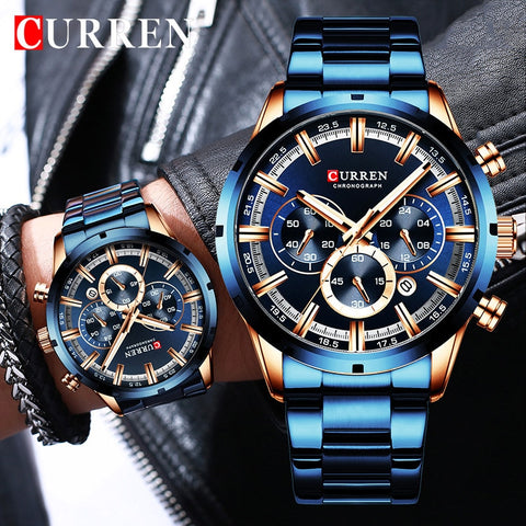 Fashion Men Watches With Stainless Steel