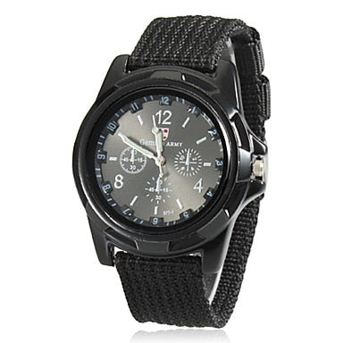 Men Army Watch Nylon Military Male Quartz Watches