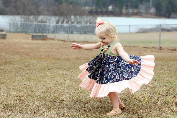 """Arianna"" Twirly dress in ""Sprig of Sweetness"""