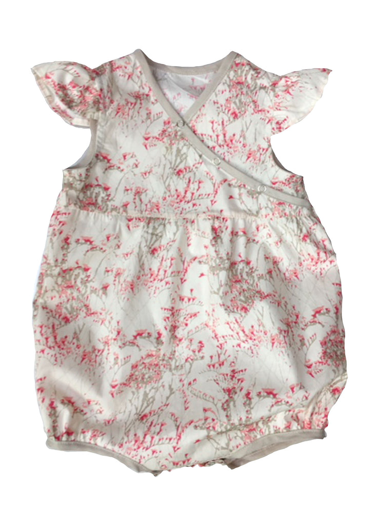 """Leandra"" Baby Girl Romper with crotch snap"