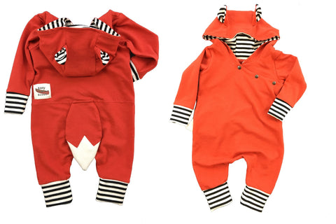 Critter Romper in Fox