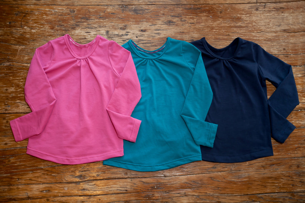 """Marianne"" Long Sleeve tee with grow-with-me cuffs"