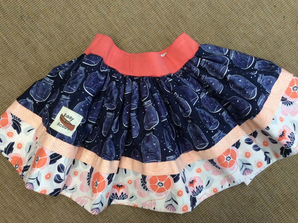 Penelope Pocket skirt in firefly