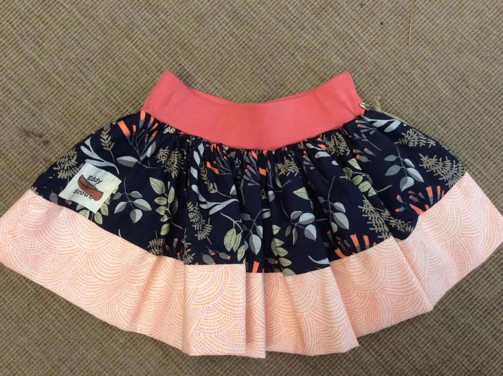 Penelope Pocket skirt in sprig of sweetness