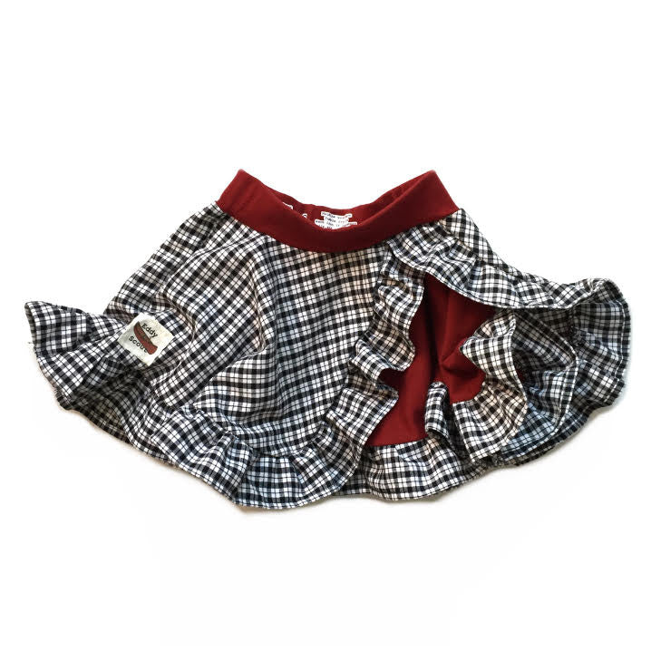 Phoebe Pocket Skirt in Black/White Plaid