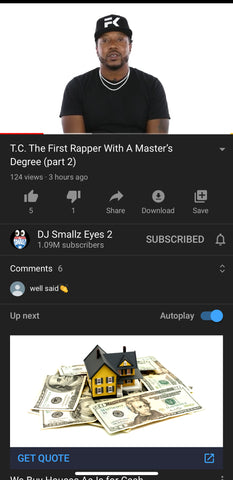 First rapper with a Masters Degree
