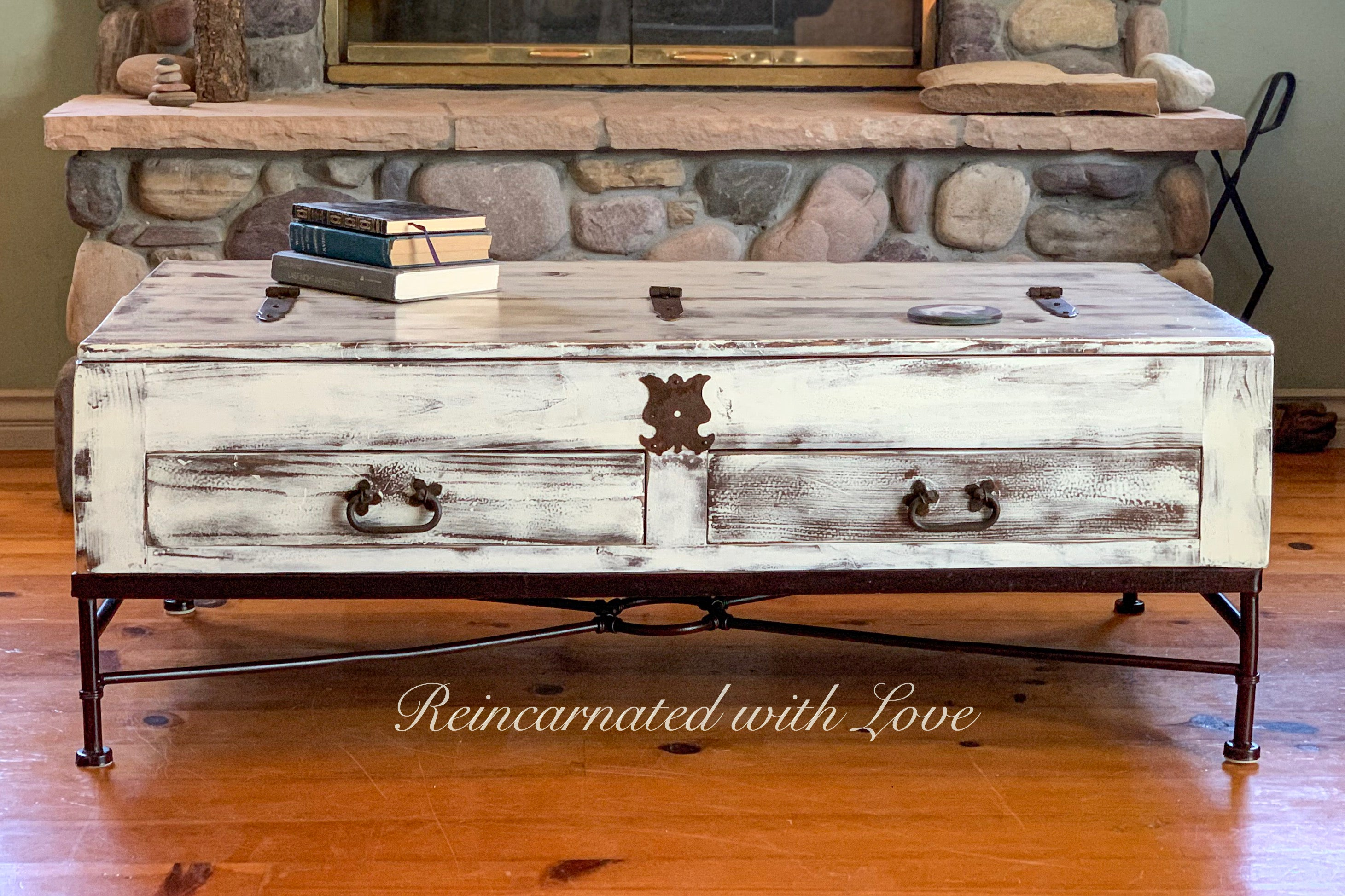 - Lift Top Coffee Table ~ Farmhouse Furniture Reincarnated With