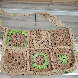 Chrysalis Crochet Granny Sq Plarn Bag