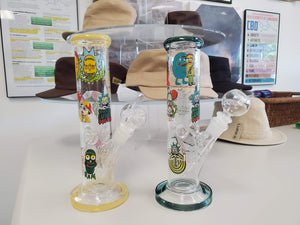"Rick & Morty 10"" Tube Style Bong/Water Pipe"