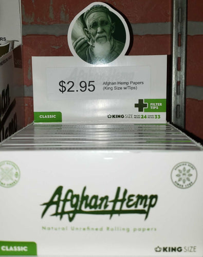 Afghan Hemp Papers (King Size w/Tips)