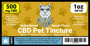 Billy Dawgs CBD Pet Tincture Medium