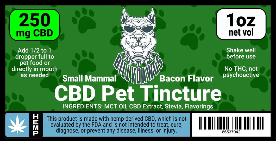 Billy Dawgs CBD Pet Tincture Small