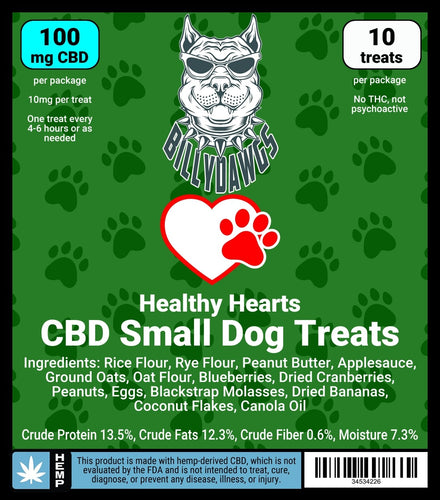 Billy Dawgs Healthy Hearts CBD Small Dog Treats