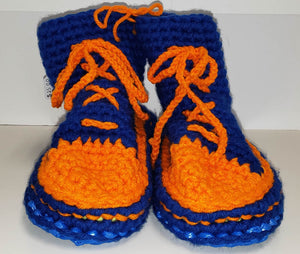 Chrysalis Crochet Cotton Hi-Top Bag Slippers