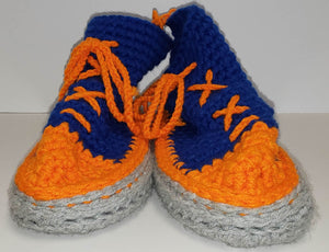 Chrysalis Crochet Cotton Hi-Top Slippers