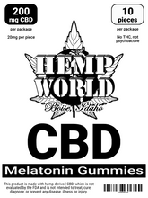 Load image into Gallery viewer, Hemp World CBD Melatonin Gummies