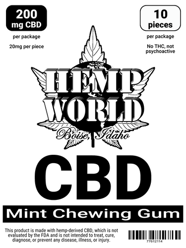 Hemp World CBD Chewing Gum (Spearmint)