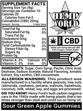 Load image into Gallery viewer, Hemp World CBD Gummies (Sour Green Apple)