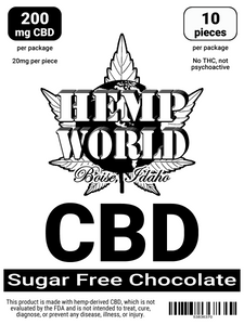 Hemp World CBD Sugar-Free Chocolate