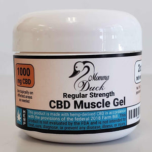 Momma Duck CBD Muscle Gel 1000 Jar