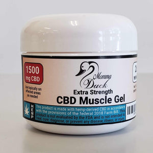 Momma Duck CBD Muscle Gel 1500 Jar