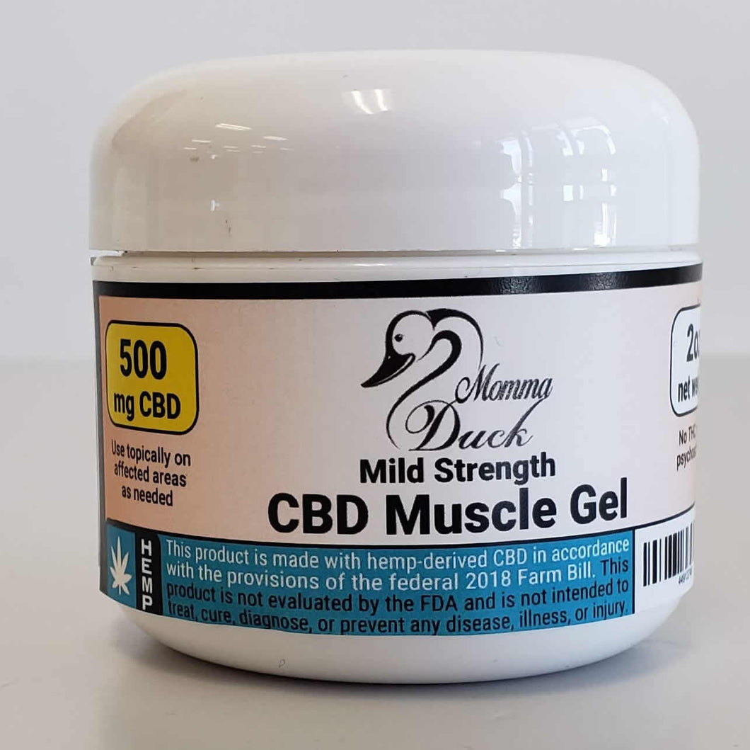 Momma Duck CBD Muscle Gel 500 Jar