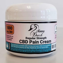 Load image into Gallery viewer, Momma Duck CBD Pain Cream 2oz 1000 Jar