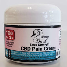 Load image into Gallery viewer, Momma Duck CBD Pain Cream 2oz 1500 Jar