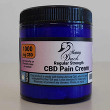 Load image into Gallery viewer, Momma Duck CBD Pain Cream 4oz 1000 Jar